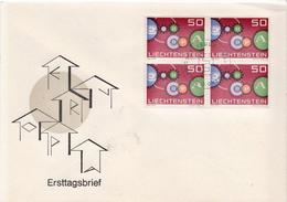 Liechtenstein Stamp In A Block Os 4 Of FDC - Europa-CEPT