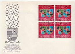 Liechtenstein Stamp In A Block Os 4 Of FDC - Covers