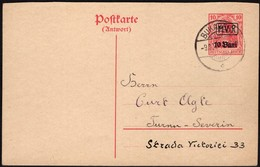 Romania - Militärverwaltung In Rumänien M.V.i.R. German Occupation Of Romania, MiNr. P 2A (reply Card), Bukarest 1917. - Germany