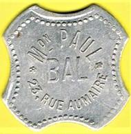 Jeton De Bal - JENZER (non Troué !) - Paris - Monétaires / De Nécessité