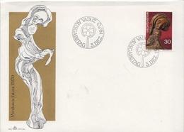 Liechtenstein Stamp On FDC - Sculpture