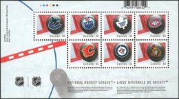 CANADA Bloc NHL Logos/Equipe 2013 Neuf ** MNH - 1952-.... Règne D'Elizabeth II