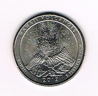 //  U.S.A.  1/4 DOLLAR  HAWAII - HAWAI'I VOLCANOES   2012 D - Émissions Fédérales