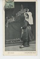 """LIMOUSIN - ENFANTS - """"NOEL LIMOUSIN """" (fillette écrivant Avec Une Craie Au Tableau ) - Otros Municipios"""