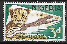 NIGERIA    -   Série Courante.  Oblitéré.   Guépard - Nigeria (1961-...)