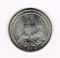 //  U.S.A.  1/4 DOLLAR  HAWAII - HAWAI'I VOLCANOES   2012 P - Émissions Fédérales