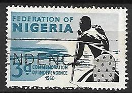 NIGERIA    -   1960 .  Commémoration De L' Indépendance . Oblitéré.      Piroguier - Nigeria (1961-...)