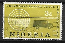 NIGERIA    -   1961 .  Admission à L' U.P.U.. Oblitéré.   Camion Postal - Nigeria (1961-...)