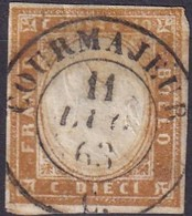 SARDEGNA 1863 10 C. Bistro Annullo COURMAJEUR - Sardegna