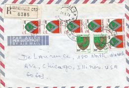 Gabon 1978 Libreville Armory Crocodile Catfish Registered Cover - Omslagen