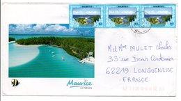 MAURICE AFFRANCHISSEMENT COMPOSE SUR LETTRE POUR LA FRANCE 2000 - Maurice (1968-...)