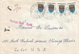 Gabon 1977 Mekambo Armory Lion Cat Fish Underfranked Taxed Cover - Omslagen
