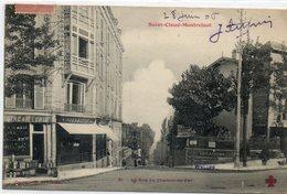 92  St CLOUD - MONTRETOUT        La Rue Du Chemin De Fer - Saint Cloud
