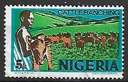 NIGERIA    -   Série Courante.   Elevage De Bétail . Oblitéré . - Nigeria (1961-...)