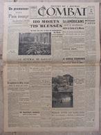 Journal Combat N°66 (28 Août 1944) Bombardement Paris - Paris Insurgé Sarthe - Eisenhower Acclamé - Pain - Autres