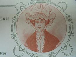 PARIS 5eme, 1911 - CONFISERIE D'ANJOU : 63 BIS RUE DU CARDINAL LEMOINE - DECO - FACTURETTE - Frankrijk