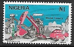 NIGERIA    -   Série Courante.   Carrière De Pierre  / Camion  /  Grue. Oblitéré . - Nigeria (1961-...)