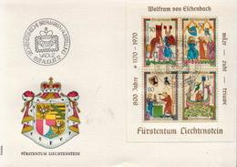 Liechtenstein SS On Special Cover - Philatelic Exhibitions