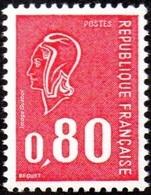 France N° 1816 D ** Marianne De Béquet - Le 80c Rouge - Taille Douce - Gomme Tropicale Sans Phosphore - Unused Stamps
