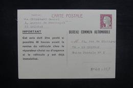 FRANCE - Entier Postal Type Decaris Du Bureau Commun Automobile De Le Chesnay - L 37694 - Entiers Postaux