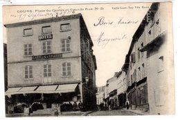 060819///CP Ancienne Du RHONE.....COURS  Avec Hotel SARRAZIN - Non Classés