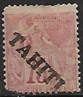 Tahiti  1893  Sc#15  75c  MH Spacefiller 2016 Scott Value $87.50 - Unused Stamps
