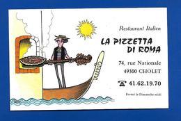 Carte De Restaurant Italien LA PIZZETA DI ROMA Cholet 49 - Maps