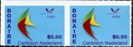 CARAIBES NEERLANDAISES Courants Bonaire  0,88+0,99 2v Neuf ** MNH - Curaçao, Antilles Neérlandaises, Aruba