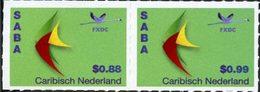 CARAIBES NEERLANDAISES Courants-Saba 2v 0,88+0,99 2014 Neuf ** MNH - Curaçao, Antilles Neérlandaises, Aruba
