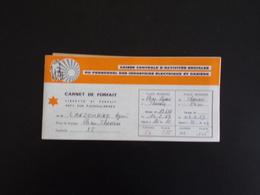 Carnet De Forfait Paris Lyon Du 22 Février 1969, CCAS Du Personnel Des Industries électrique Et Gazière - Titres De Transport