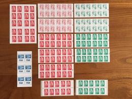 SERIE COMPLÈTE De 13 CARNETS MARIANNE émis En 2018 : 7 Carnets Rouges, 5 Carnets Verts, 1 Carnet Europe - Neufs ** - Usage Courant