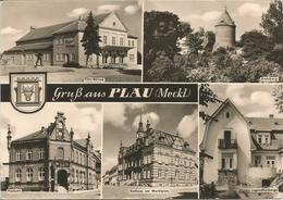 Gruss Aus PLAU (Meckl.).  (scan Verso) - Plau