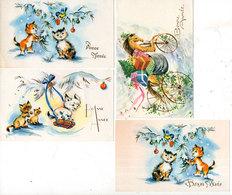 5 CP Mignonettes - Chevaux - Chats - Chiens - Oiseaux  (115273) - Fancy Cards