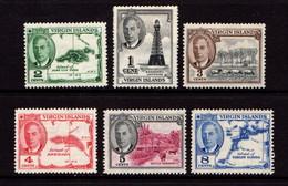 BRITISH  VIRGIN  ISLANDS    1952    George  VI    Part  Set  Of  6    MH - British Virgin Islands