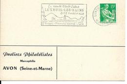 Oblitération SECAP Luxeuil-Les-Bains, Hte Saône,cité Thermale, Vosges, Franche-Comté, Jura - Hydrotherapy