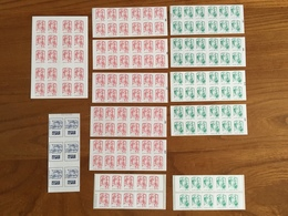 SERIE COMPLÈTE De 13 CARNETS MARIANNE émis En 2016 : 7 Carnets Rouges, 5 Carnets Verts, 1 Carnet Europe - Neufs ** - Libretti