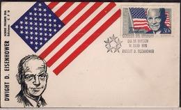 Uruguay - 1970 -  FDC - Dwight D. Eisenhower - Famous People