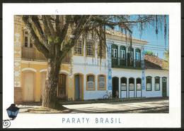 Postcard AK Brazil Architecture Rio De Janeiro Paraty Houses On Main Square - Buildings & Architecture