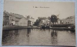 CPA ATH Ecluse Bourgeois Péniche Binnenscheepvaart Canal Kanaal - Ath