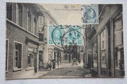 CPA ATH Rue Du Chaudron Et Athénée Royal Très Animée - Ath