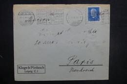 ALLEMAGNE - Oblitération Mécanique De Leipzig Sur Enveloppe En 1930 Pour La France - L 37715 - Storia Postale
