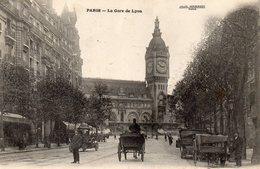 CPA. Paris. La Gare De Lyon Vers 1900. Photo Jules Seebergeer - Stations, Underground