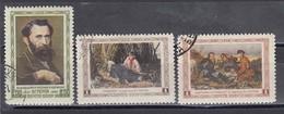 USSR 1956 - W. Perow, Maler, Mi-Nr. 1826/28, Used - 1923-1991 USSR