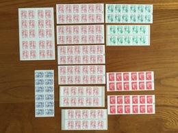 SERIE COMPLÈTE De 12 CARNETS MARIANNE émis En 2013 : 9 Carnets Rouges, 2 Carnets Verts, 1 Carnet Bleu - Neufs ** - Freimarke