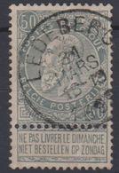 COB 63 Fine Barbe Cachet Simple Cercle LEDEBERG - 1893-1900 Schmaler Bart
