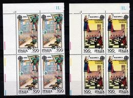 1981 Italia Italy Repubblica EUROPA CEPT EUROPE 4 Serie Di 2v. In Quartina MNH** Bl.4 - 1981