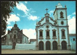 Postcard AK Brazil Marechal Deodoro Alagoas Church Convent Sao Francisco 1980s - Churches & Cathedrals