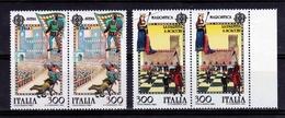 1981 Italia Italy Repubblica EUROPA CEPT EUROPE 2 Serie Di 2v. Coppia MNH** - 1981