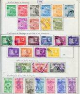 14102 VENEZUELA Collection Vendue Par Page N° 557/64, 565/74, 576/8, 579/85 °   1958   B/TB - Venezuela