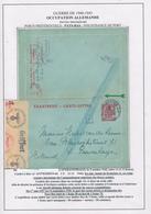 732/29 --  Entier Carte-Lettre Petit Sceau S/ Feuille D' Album - ANTWERPEN 1942 Vers NL - Censures Bande + Chimique - WW II